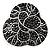 Black Crystal Fancy Brooch (Gun Metal)