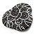 Black Crystal Fancy Brooch (Gun Metal) - view 4