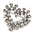 Tiny Crystal Open Heart Brooch (Silver Tone Metal) - view 4