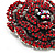 Spectacular Hot Red Dimensional Rose Brooch (Antique Silver Tone) - view 4