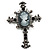 Victorian Style Cross Cameo Brooch (Gun Metal) - view 1