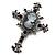 Victorian Style Cross Cameo Brooch (Gun Metal) - view 2