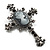 Victorian Style Cross Cameo Brooch (Gun Metal) - view 3