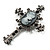 Victorian Style Cross Cameo Brooch (Gun Metal) - view 5