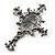Victorian Style Cross Cameo Brooch (Gun Metal) - view 6