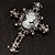 Victorian Style Cross Cameo Brooch (Gun Metal) - view 7