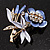 Violet Enamel Crystal Bunch Of Flowers Brooch (Gold Tone) - view 6