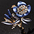Violet Enamel Crystal Bunch Of Flowers Brooch (Gold Tone) - view 7