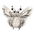 Large Enamel Bug Brooch (White) - view 2