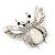 Large Enamel Bug Brooch (White) - view 6