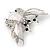 Large Enamel Bug Brooch (White) - view 7