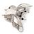Large Enamel Bug Brooch (White) - view 9