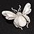 Large Enamel Bug Brooch (White) - view 4
