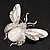 Large Enamel Bug Brooch (White) - view 3