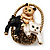 Cute &#039;Kittens In The Basket&#039; Brooch In Gold Plated Metal - view 4