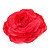 Large Pink Red Fabric Rose Brooch - view 3