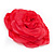 Large Pink Red Fabric Rose Brooch - view 4