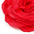 Large Pink Red Fabric Rose Brooch - view 5