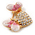 Gold Plated Diamante 'Heart' Brooch - view 3
