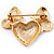 Gold Plated Diamante 'Heart' Brooch - view 4