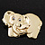 Gold Plated 'Elephant' Brooch - view 3