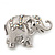 Silver Plated 'Fortunate Elephant' Brooch - view 6