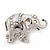 Silver Plated 'Fortunate Elephant' Brooch - view 4