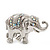 Silver Plated 'Fortunate Elephant' Brooch - view 2