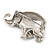 Silver Plated 'Fortunate Elephant' Brooch - view 5