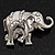 Silver Plated 'Fortunate Elephant' Brooch - view 3