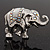 Silver Plated 'Fortunate Elephant' Brooch