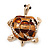 Light Gold Plated Enamel &#039;Turtle&#039; Brooch - view 7