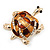Light Gold Plated Enamel &#039;Turtle&#039; Brooch - view 8