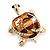 Light Gold Plated Enamel &#039;Turtle&#039; Brooch - view 10