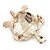 Light Gold Plated Enamel &#039;Turtle&#039; Brooch - view 11
