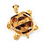 Light Gold Plated Enamel &#039;Turtle&#039; Brooch - view 2