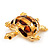 Light Gold Plated Enamel &#039;Turtle&#039; Brooch - view 6
