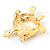 Light Gold Plated Enamel &#039;Turtle&#039; Brooch - view 5