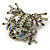 Swarovski Crystal 'Frog' Brooch In Rhodium Plated Metal (Light Green/ Grey) - view 7