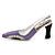 Lilac/Black Diamante Enamel 'Shoe' Brooch In Silver Plated Metal - 5cm Width