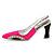 Bright Pink/Black Diamante Enamel 'Shoe' Brooch In Silver Plated Metal - 5cm Width