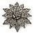 Victorian Style Black Diamante Flower Corsage Brooch In Gun Metal - 6.5cm Diameter - view 4