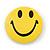 Happy Smiling Face Lapel Pin Button Badge - 3cm Diameter