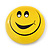 Very Happy Smiling Face Lapel Pin Button Badge - 3cm Diameter - view 2