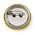 Very Happy Smiling Face Lapel Pin Button Badge - 3cm Diameter - view 3
