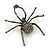 Giant Dim Grey Crystal Spider Brooch In Gun Metal Finish - 7cm Length - view 7