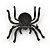 Large Swarovski Crystal 'Spider' Brooch In Black Metal - 6cm Length - view 3
