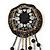 Hand-made Snakeskin Gem Embellished Dangle Brooch - 12cm length - view 2