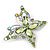 Pale Green Diamante Butterfly Brooch In Rhodium Plating - 5.5cm Lengther Tone - view 3