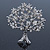 Clear Crystal 'Tree Of Life' Brooch In Rhodium Plating - 52mm Length - view 2